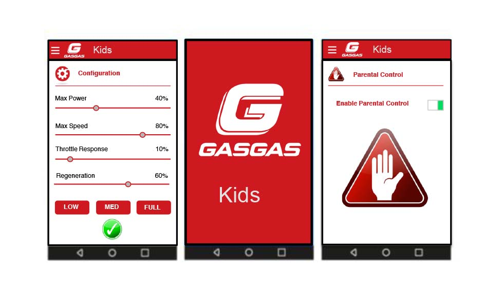 GasGas eKids E12_Wireless Control